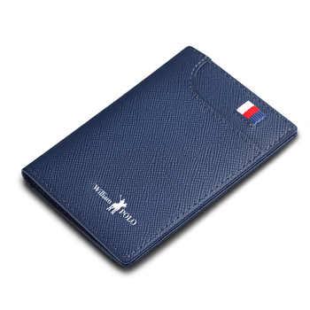 Genuine Leather Men\'s Wallets Thin Male Wallet Card Holder Cowskin Soft Mini Purses New Design Vintage Men Short Slim Wallet - DISCOUNT ITEM  55 OFF Luggage & Bags