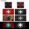 Светоотражающий крест metic EMT Star of Life многоцветная спасательная IR Chapter patches армейская тактическая Боевая аппликация эмблем значок