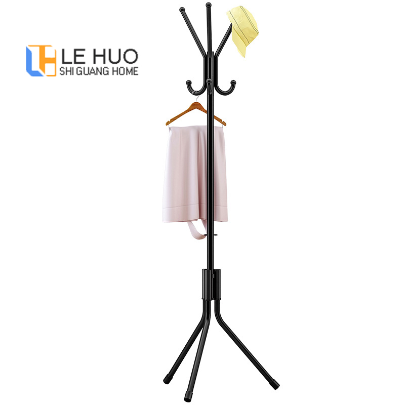 Simple Practical Coat Rack Multiple Hooks Floor-standing Hanger Fashion Living Room Storage Hat Bag Rack For Doorway Furniture