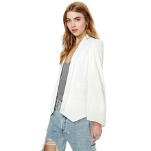 Fashion Blazer Women Unbuttoned Suit Long Sleeve Clothing Blaser Feminino Manteau Femme Americana Mujer Solid Bleizer Dama