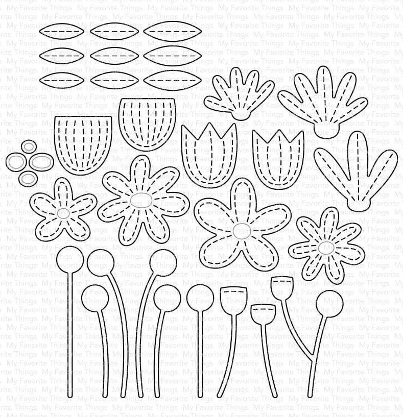 Metal Cutting Dies Colorful Flowers Cut Die Mold Decoration Scrapbook Paper Craft Knife Mould Blade Punch Stencils Die