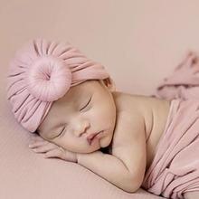 DSstyles мусульманские детские шапки с узлом Детские шапочки для девочек и мальчиков детские шапочки головные уборы для новорожденных реквизит для фотосессии
