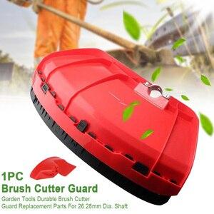 Cubierta de la máquina desbrozadora herramientas de jardín rojas de plástico protector de cepillo de bloque duradero con placa de abrazadera para 26 28mm de diámetro. Eje