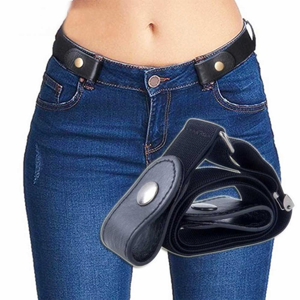 バックルの場合は無料ベルトジーンズパンツ、ドレス、なしバックルストレッチ弾性ウエストベルト女性/男性、なし膨らみ、ノー面倒ウエストベルト