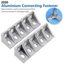 10pcs Aluminum 2020 Corner Bracket Fittings Corner Angle Bracket for Connector Aluminium Profile CNC Router