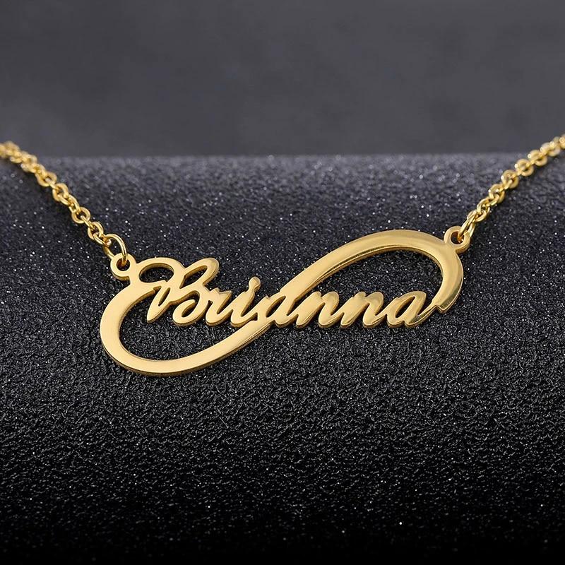 Custom Name Necklace Bridesmaid Gift Personalized Name Necklace Personalized Jewelry Gold Name Necklace