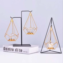 Candle Holders Geometric Candlestick Metal Candle Holder for Romantic Dinner Wedding Party Events Home Decor Accessories candlestick candle holder 3d geometric tea light wall mounted metal candlestick party wedding dining home decor candle holder