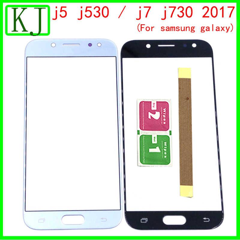 ل samsung galaxy j5 J530/j7 J730 2017 الجبهة LCD تعمل باللمس الزجاج الخارجي عدسة لوح مستشعر