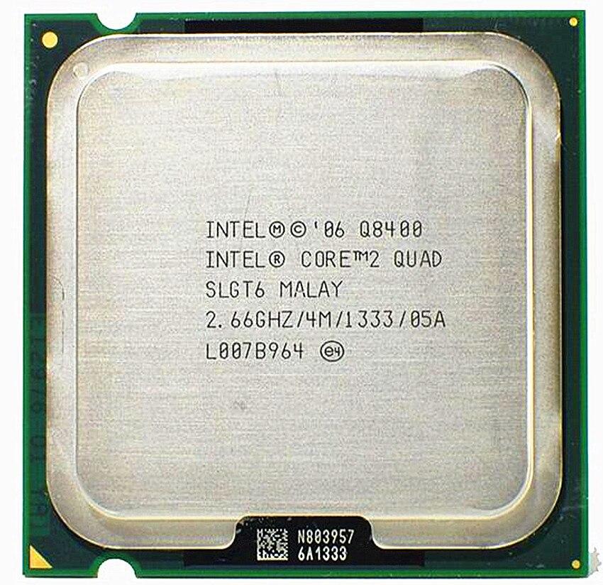 Intel Core 2 Quad Q8400 2,6 GHz Quad-Core CPU Prozessor 4M 95W LGA 775 Desktop CPU (4M Cache, 1333 MHz FSB)