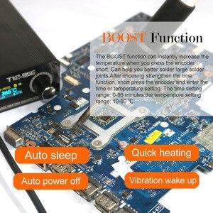 Image 3 - T12 956 はんだデジタルステーション電子はんだごて OLED 1.3 でインチ M8 金属製のハンドルと T12 はんだごてのヒント