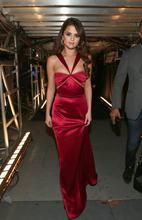 Сексуальное длинное платье с темно красные платья знаменитостей