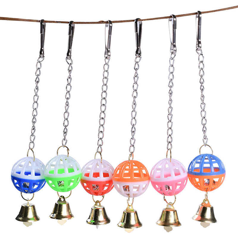 Pet Bird Parakeet Climb Bite Chew With Hanging Funny Swing Bell Ball Bird Toy Cute Parrot Toys Pet Supplies For Parakeet Cockati
