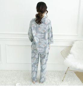 Image 5 - Nữ Bộ Đồ Ngủ Bộ Thu Đông Cotton Hạc Ve Áo Đầu + Dài Quần 2 Mảnh Bộ Đồ Ngủ Bộ Nữ Đồ Ngủ Bé Gái pyjamas Phù Hợp Với