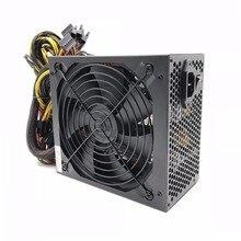 Fuente de alimentación para minería SATA IDE 8 GPU 2000W ATX Gold, para BTC ETH Rig Ethereum Computer ComponentMining Machine, compatible con 8 tarjetas GPU