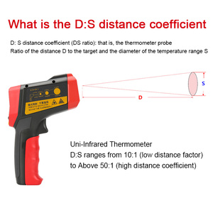 Image 3 - UNI T UT301A+ Non Contact Laser LCD Display IR Infrared Digital C/F Selection Surface Temperature Thermometer Pyrometer Imager