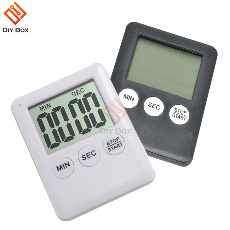 Super Thin LCD Digital Screen Kitchen Timer Square Cooking Count Up Countdown Alarm Sleep Stopwatch Temporizador Clock