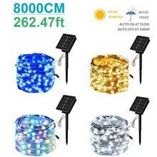 200led наружний солнечный светильник гирлянды 100/200 Светодиодов