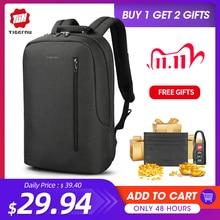 Tigernu nouveauté mâle Mochila avec rabat 15.6 pouces Anti vol ordinateur portable hommes sacs à dos USB charge Cool école sac à dos pour les garçons