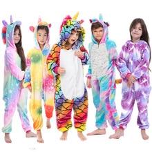 Inverno macio kigurumi pijamas para meninas unicórnio pijama engraçado cosplay traje panda animal dos desenhos animados kigurumi pijamas pijamas pijamas