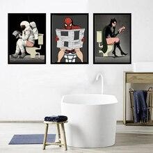 Wall Posters Cartoon Superheros Canvas Prints for Kids Room Bathroom Nursery paintings Modular Animation Pictures