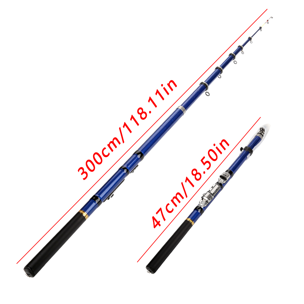 Fishing-Rod Telescopic Toughness-Spinning-Rods Hand-Carbon-Fiber Casting Lightweight