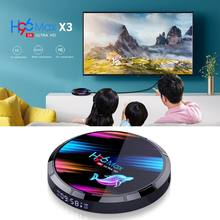 Decodificador multimedia H96 MAX X3 Dispositivo de TV inteligente S905X3, 2,4G/5G, Wifi, BT4.0, 4 + 32GB/64GB/128GB, para sistemas An-droid 9,0