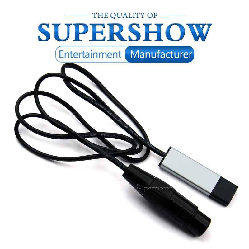 Interface Adapter USB To DMX512 LED Remote Control Computer PC Stage Lighting Effect Cable Freestyler Download