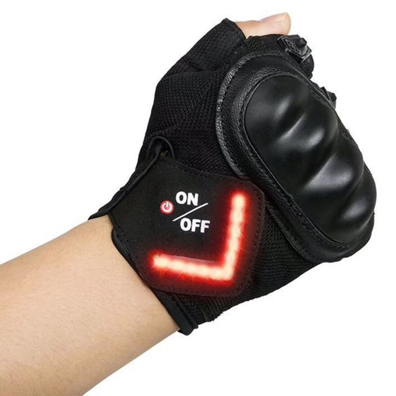 Cycling Gloves Intelligent Led Turn Automatic Induction Turn Signal Gloves Warning Light Gloves Outdoor Riding Gloves Bicycle Cy