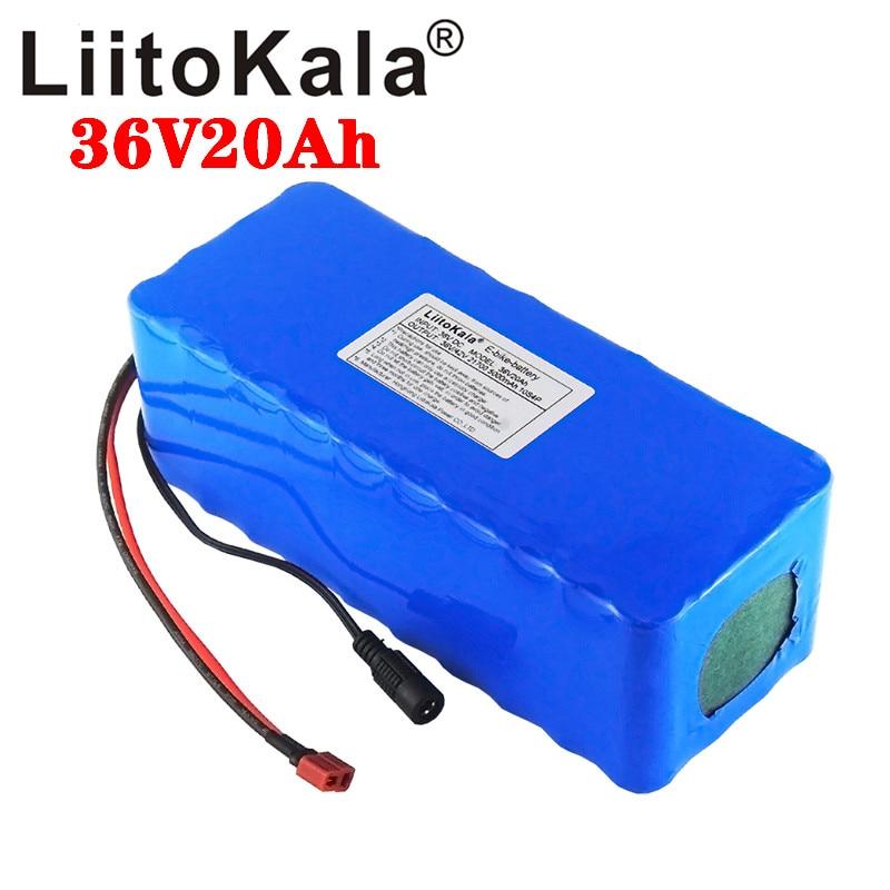 Liitokala 36 v 20ah bateria 21700 5000mah 10s4p bateria 500 w bateria de alta potência 42 v 15000 mah ebike bicicleta elétrica bms