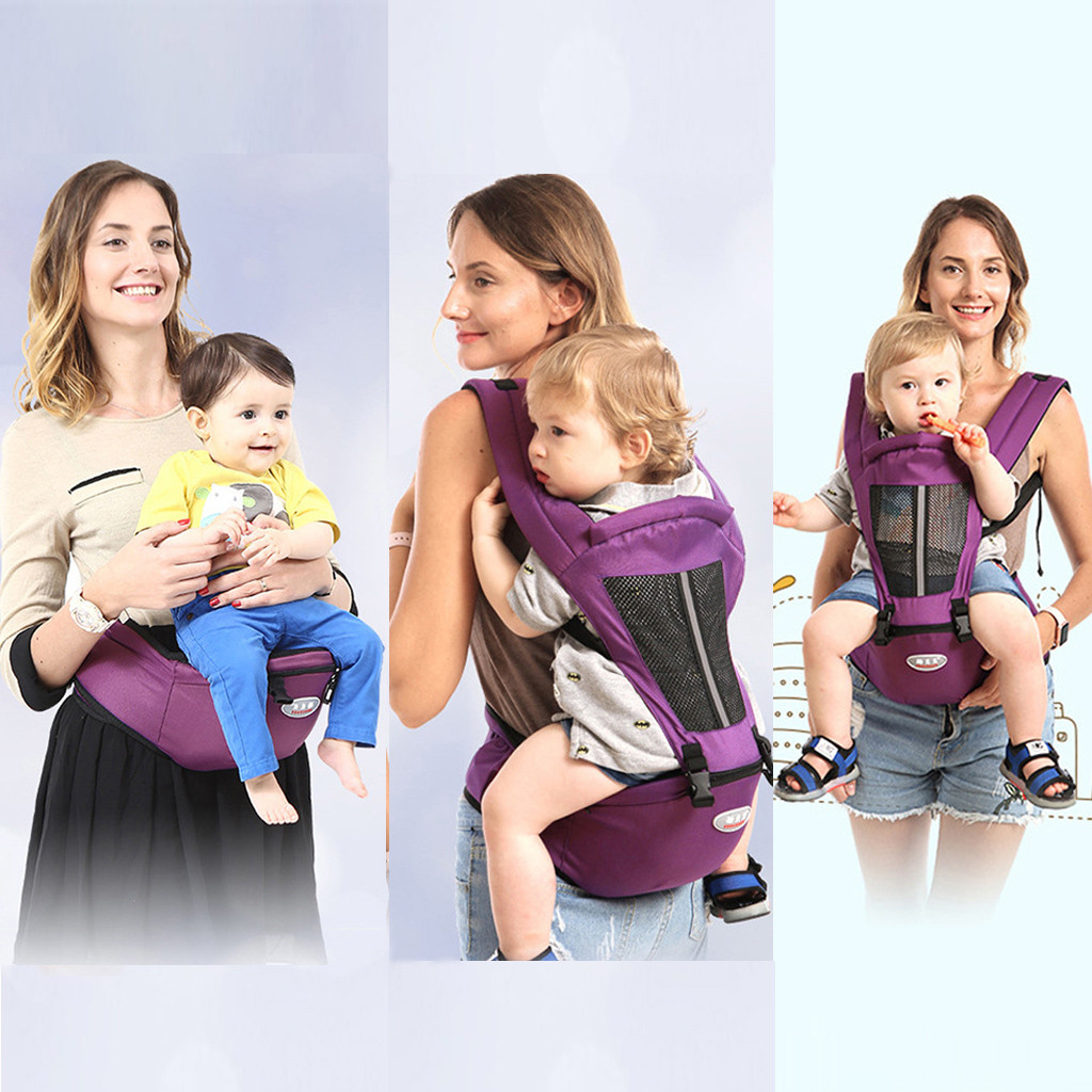 100% Brand New And High Quality Hot Sale Baby Carrier Hipseat Sling Backpack Belt Waist Hold Infant Hip Seat Zipper At Inside