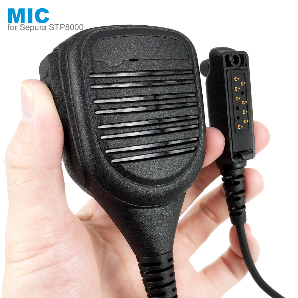 PTT Speaker Mic Microphone For SEPURA STP8000 STP8030 STP8035 STP8038 STP8040 STP8080 Walkie Talkie IP45 Waterproof