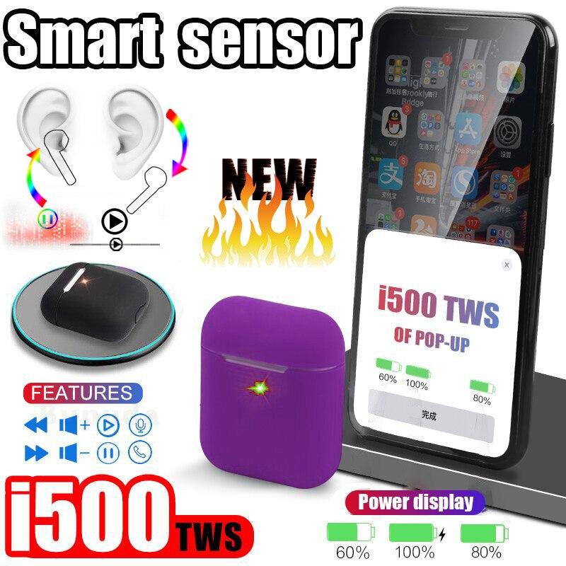 I500 TWS Aire 2 Pop up capteur intelligent utilisation séparée écouteur sans fil QI charge sans fil PK w1 H1 i60 i10 i30 i80 i200 i1000 tws