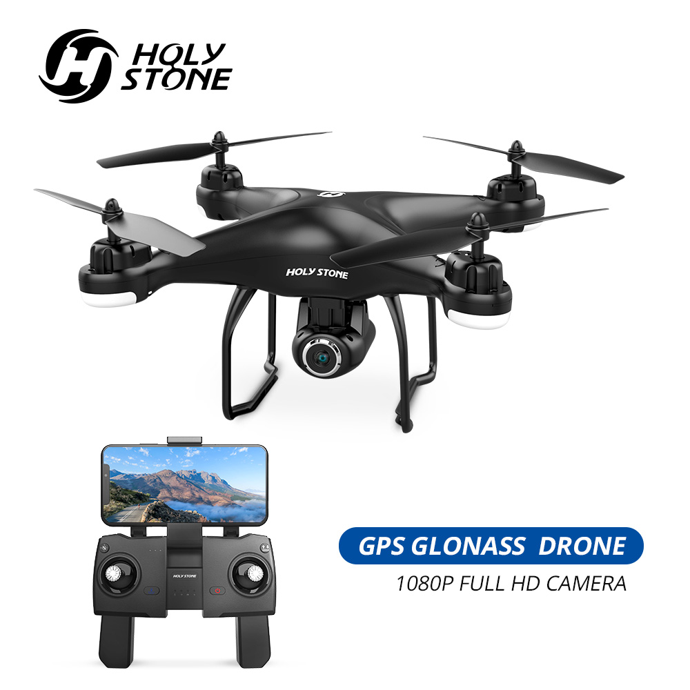 Pedra sagrada HS120D GPS FPV Zangão com Câmera HD 1080p Wi-fi RC Drones Selfie Siga-me GPS Quadcopter Cardan quadrocopter 300M
