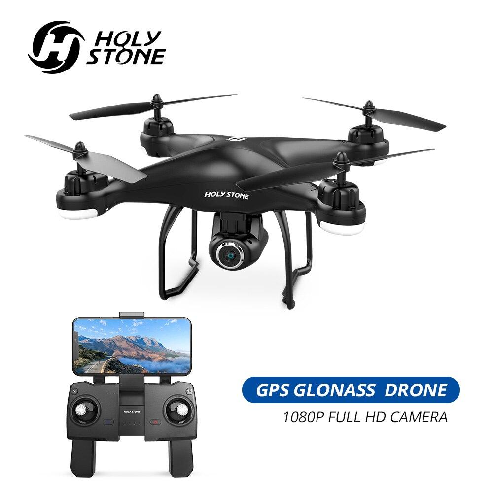 Pedra sagrada hs120d gps zangão fpv com 1080p hd câmera wifi rc drones selfie siga-me quadcopter gps glonass quadrocopter 300 m