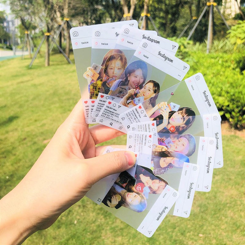 9 Pcs/set K-pop TWICE New Album Yes Or Yes Photo Card Ins Transparent Lomo Cards MINA Fans Collections