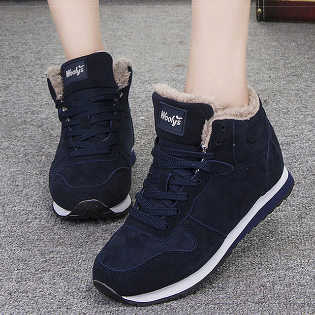 Men Boots Winter Shoes Snow Boots Men Lace-Up Suede Ankle Boots Men Winter Sneakers Non-slip Winter  Boots Male Vulcanized Shoes