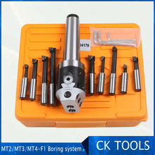 top quality MT4 M16 Arbor F1 -12 50mm boring head and 9pcs 12mm boring bars, boring head set F1 boring system