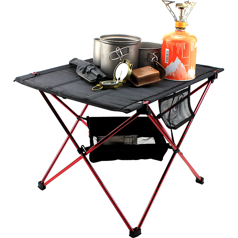 Portable Foldable Table Camping Outdoor Furniture Computer Bed Tables Picnic 6061 Aluminium Alloy Ultra Light Folding Des