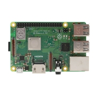 Raspberry pi 3 modelo b + rpi 3 b plus com 1 gb bcm2837b0 1.4 ghz braço Cortex A53 suporte wi fi 2.4 ghz e bluetooth 4.2|Adaptadores AC/DC| |  -