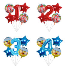 5 pçs farm animal balões 32