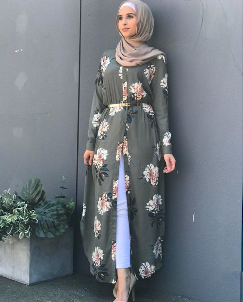 Image 5 - Dubai Arab Muslim Abaya Dress Women New Robes Temperament Print  Floral Slim Long Sleeve Islamic Casual Long Dress Plus Size 5xlDresses