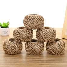 30M/roll Natural Jute Twine Burlap Hessian Cord String Hemp Rope DIY Craft Supplies Wedding Party Gift Wrapping Decoration