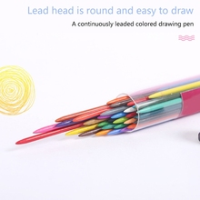 36 Colors 2.0mm Mechanical Pencils Writing Drawing Pencils Refill Leads Stationery School Office Supply 97BF