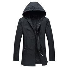 2020 Spring Long Trench Coat Men New Hooded Waterproof Jackets Coats British Sty