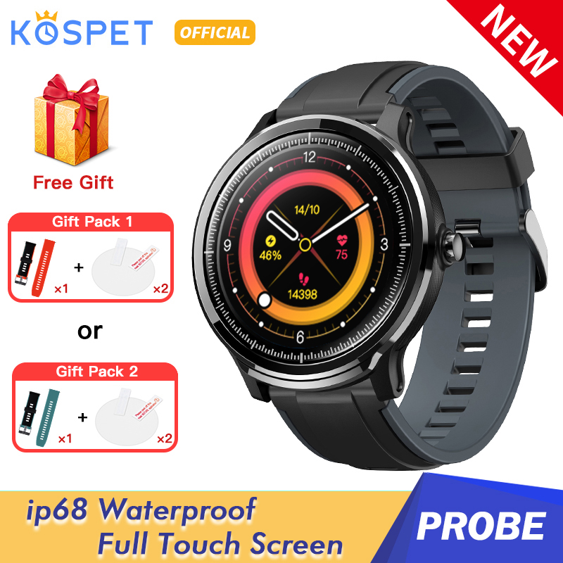KOSPET Probe Smart Watch Men IP68 Waterproof Full Touch Heart Rate Monitor Bood Pressure SN80 Smartwatch Women For Android IOS(China)