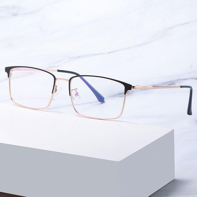 Купить мужские очки против голубого излучения в деловом стиле полная