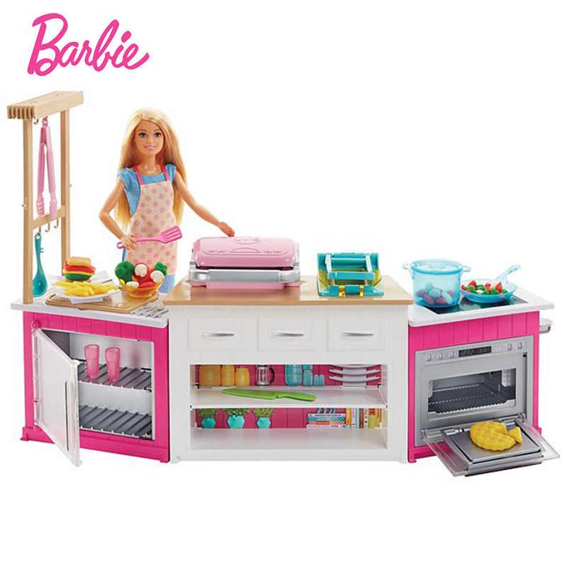 Merek Asli Boneka Barbie Ultimate Memasak Dapur Reborn Bayi Ulang Tahun Hadiah Boneca Mainan Untuk Anak Perempuan Anak Anak Pendidikan Boneca Aliexpress