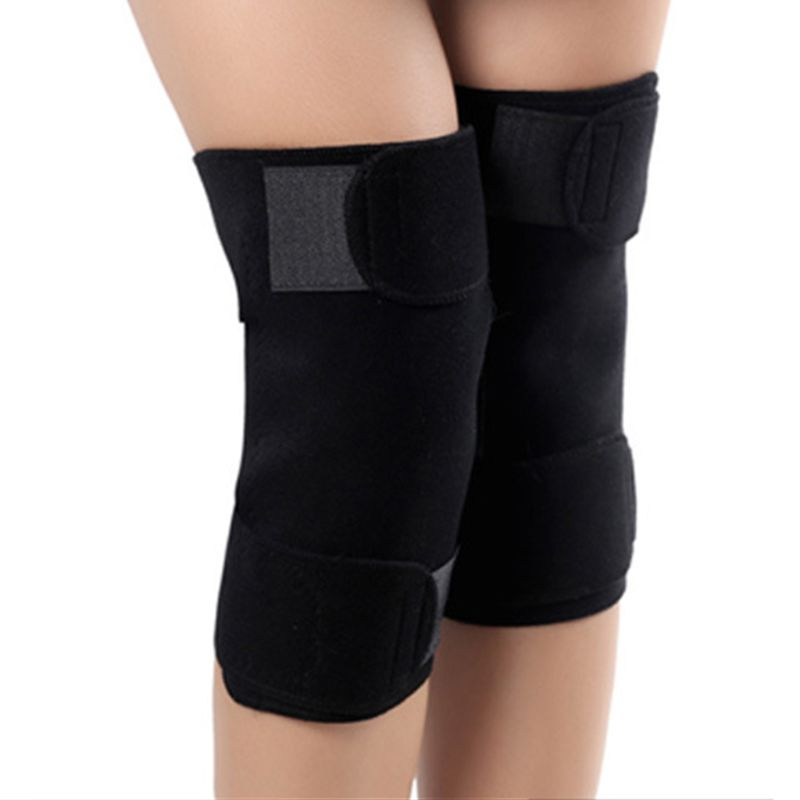 1 Pair Men Women Self-Heating Knee Brace Sleeve Adjustable Magnetic Therapy Pad Support Arthritis Pain Relief Patella Stabilizer