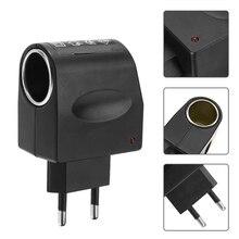 1pc 220V to 12V EU Plug Adapter Converter 220V AC Wall Power to 12V DC Car Cigarette Lighter Adapters Accessories