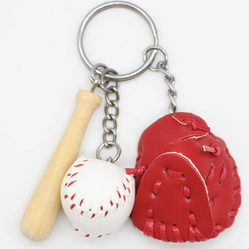Mini Figure Creative Toys Baseball Keychain Toys Hot Figure Action Toys Handmake Baseball Pendant Boy Toys